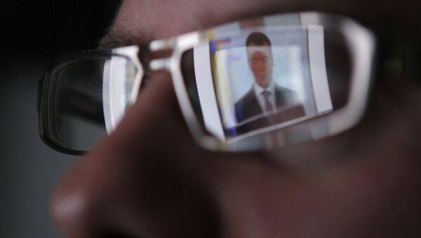 Телетрансляция послания Дмитрия Медведева. Архивное фото