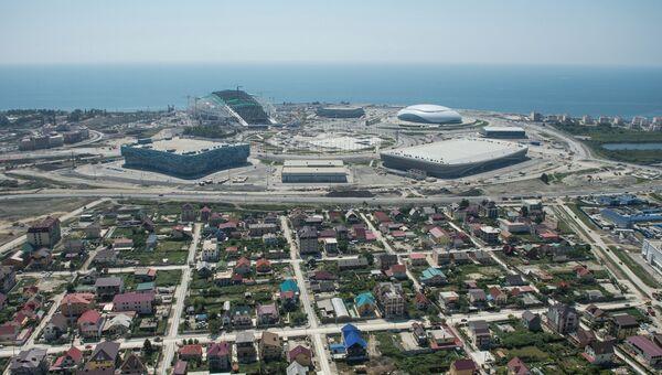 Олимпийский парк в Сочи с высоты птичьего полета, архивное фото