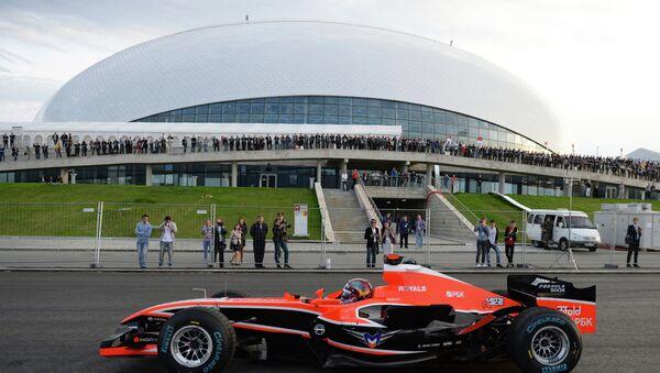 Болид Формулы-1. Архивное фото