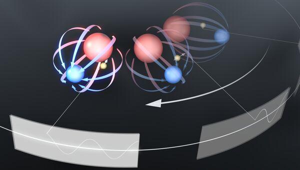 """Так художник представил себе ловушки-""""карусели"""" c заключенными внутри них электронами"""