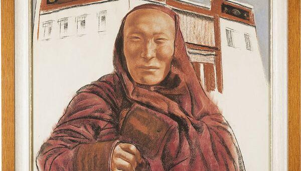 Александр Яковлев. Тибетский монах с колокольчиком. 1932 год