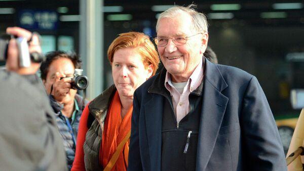 Освобожденный властями КНДР 85-летний американец Меррилл Ньюман вернулся в США