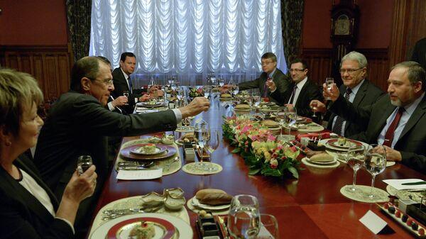 Встреча С.Лаврова с А.Либерманом