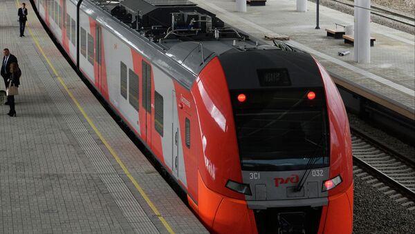 Отправление электропоезда Ласточка в Красную Поляну