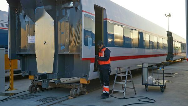 Завод по строительству поездов Talgo в Испании. Архивное фото