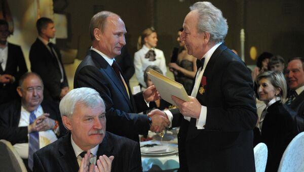 В.Путин побывал на открытии XIV международного фестиваля Площадь Искусств в Санкт-Петербурге