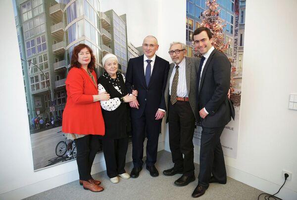 Михаил Ходорковский с родителями, сыном Павлом и первой женой Еленой