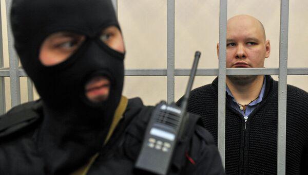 Даниил Константинов в зале Чертановского суда Москвы. Фото с места события