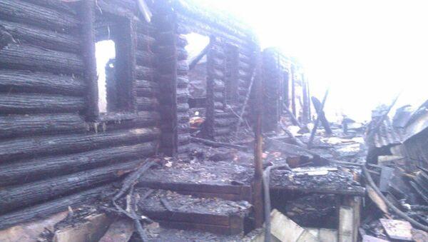 Пожар в деревне Темниково городского округа Железнодорожный