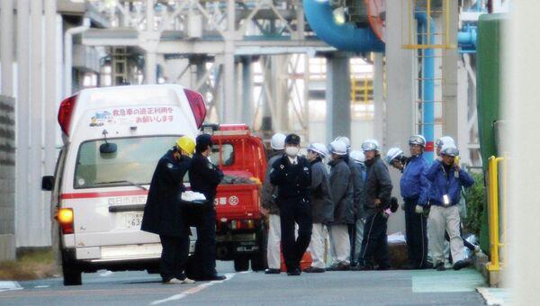 Взрыв на заводе компании Mitsubishi Materials