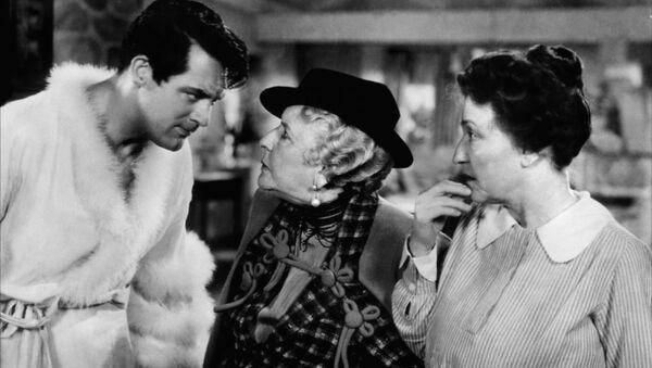 Кэри Грант в фильме Воспитание крошки, 1938 год
