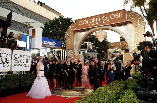 Актриса Дженнифер Лоуренс на церемонии премии Золотой глобус-2014
