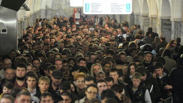 Час пик в московском метро. Архивное фото