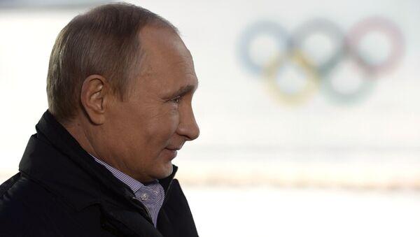 Президент России Владимир Путин во время интервью российским и иностранным СМИ. Фото с места события