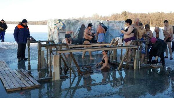 Крещенские купания в Ленинградской области