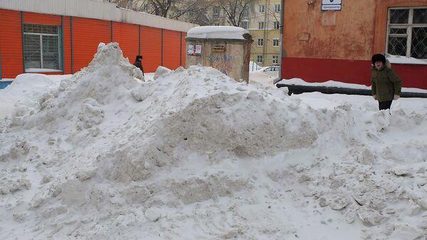 Новосибирск под снегом