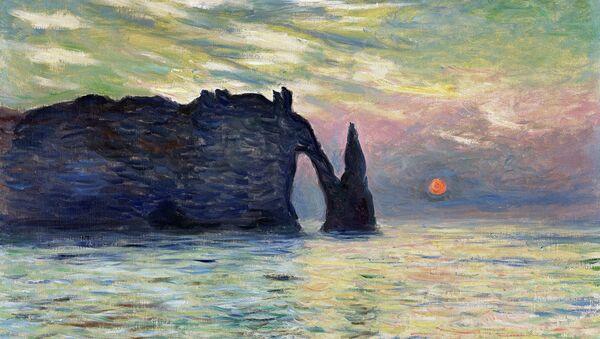 Картина Клода Моне Этрета: закат