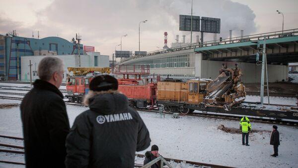С.Собянин посетил место аварии на Замоскворецкой линии метро