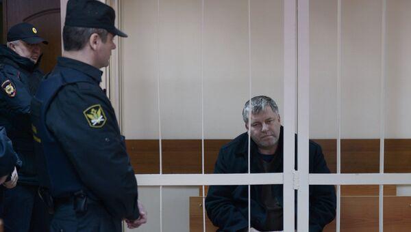 Начальник полиции аэропорта Домодедово Максим Титов в Пресненском суде Москвы