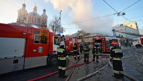 Пожар в ресторане на Пятницкой улице