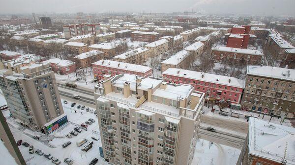 Ленинский район Новосибирска зимой, архивное фото
