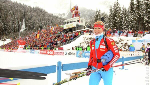 Российская биатлонистка Галина Нечкасова. Архивное фото