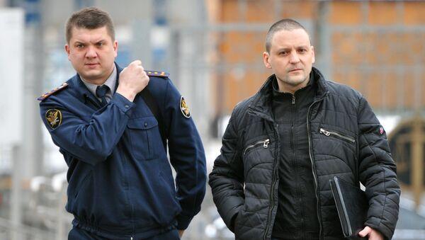 Оглашение решения о возвращении в прокуратуру дела С.Удальцова и Л.Развозжаева. Архивное фото