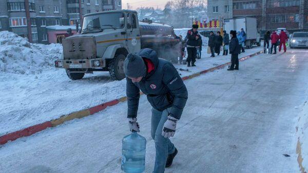 Авария на водопроводе в Новосибирске