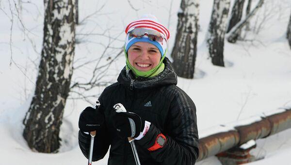 Новосибирская биатлонистка Елена Соболева. Архивное фото