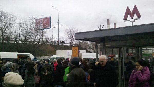 Ситуация у м. Волгоградский проспект. Поезда не ходят на фиолетовой ветке метро Москвы