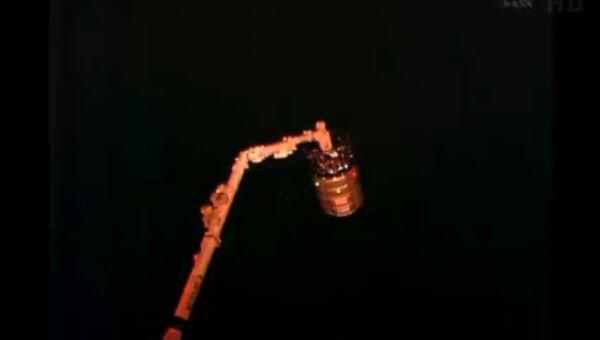 Отстыковка корабля Cygnus от МКС, архивное фото