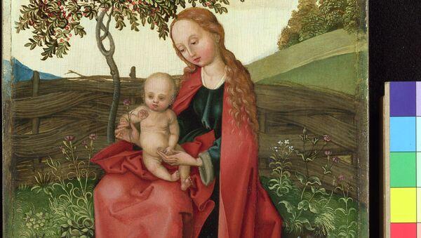 Мартин Шонгауэр. Мадонна с младенцем в саду. 1469-91