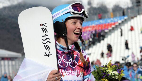 Российская сноубордистка Алена Заварзина, архивное фото