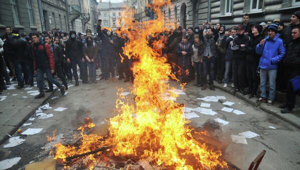 Ситуация во Львове. Фото с места события