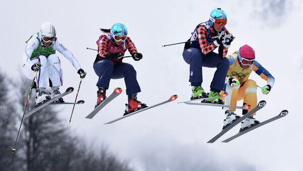 Олимпиада 2014. Фристайл. Женщины. Ски-кросс. Архивное фото
