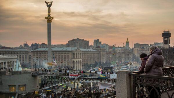 Киевляне на площади Независимости в Киеве