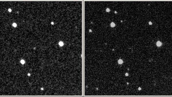 Слева - изображение вспышки 4 марта 2014 года, справа - архивный снимок того же участка неба в 2012 году. Снимки 40-см телескопа-робота МАСТЕР-Тунка