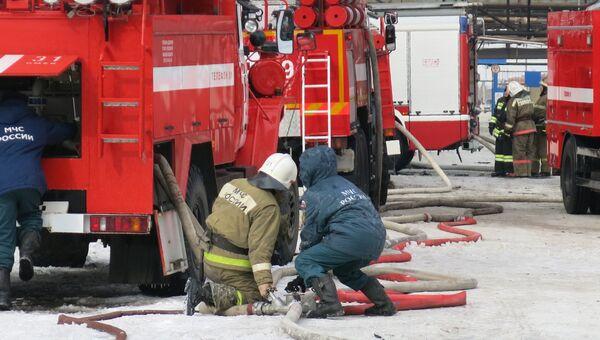 Работа пожарных. Архивное фото