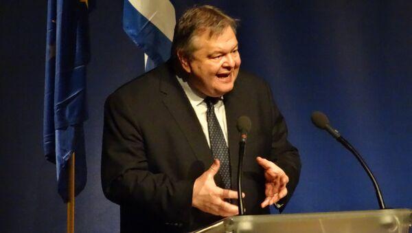 Министр иностранных дел Греции Эвангелос Венизелос. Архив