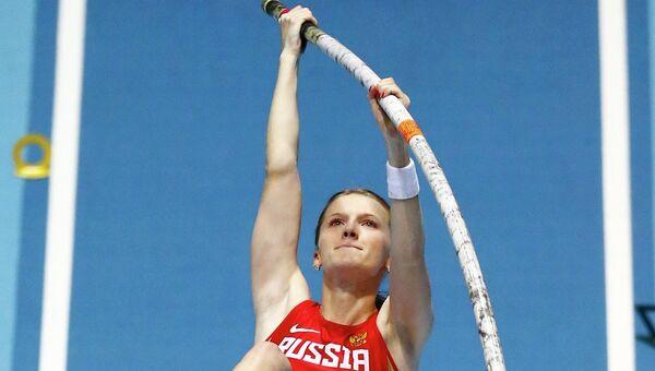 Анжелика Сидорова во время выступления. Фото с места события