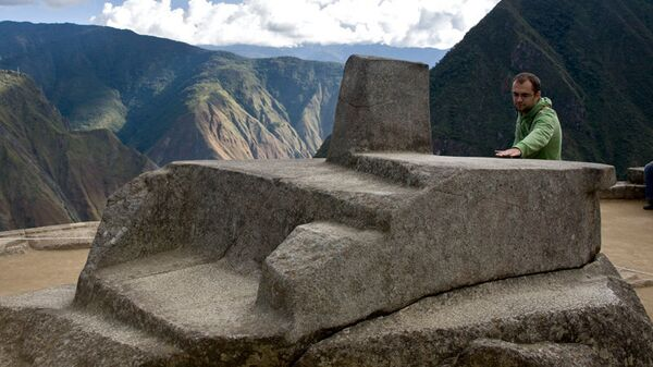 Древний накопитель солнечной энергии - камень интиуатана в Мачу-Пикчу