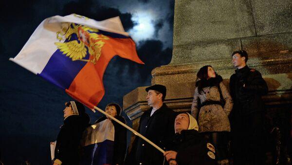 Празднования в Севастополе после голосования на референдуме о статусе Крыма. Архивное фото