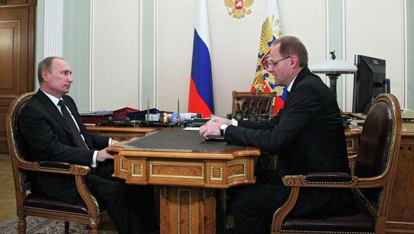 Владимир Путин и Василий Юрченко, архивное фото