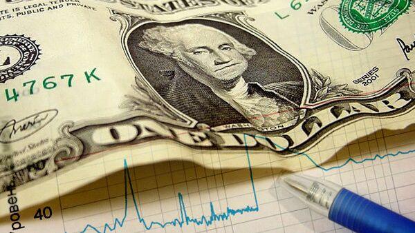 Доллар, деньги, график, биржа, акции, облигации, снижение, увеличение