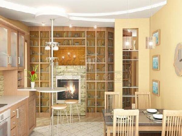 Камин, комната,квартира, интерьер
