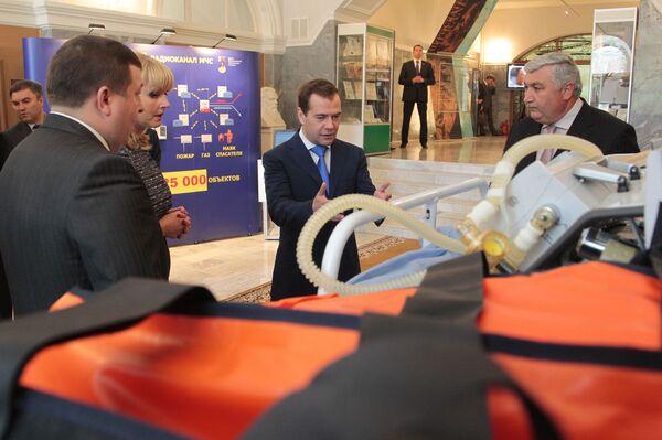Президент РФ Д.Медведев посетил Медицинский университет им. И.М.Сеченова