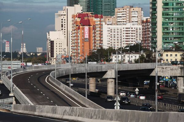 Открытие транспортной развязки на участке Краснопресненского проспекта