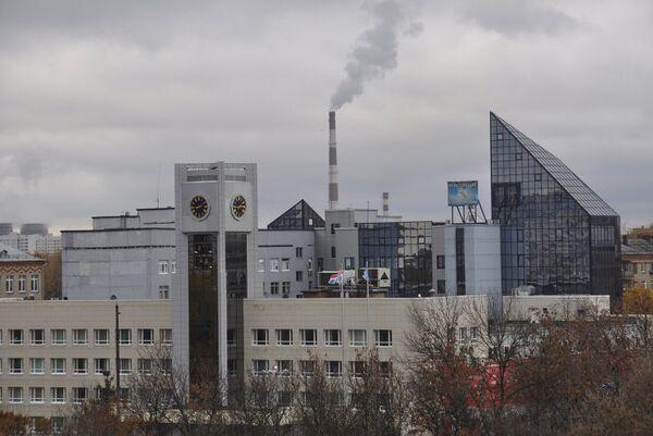 Здание администрации города Мытищи и офис компании Стройтекс