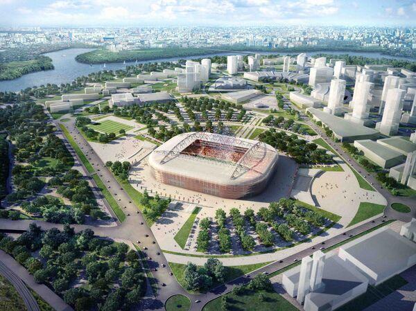Макет стадиона Спартак в Москве к ЧМ по футболу 2018 года