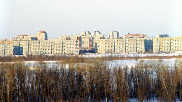 Жилой квартал города Омска. Архивное фото